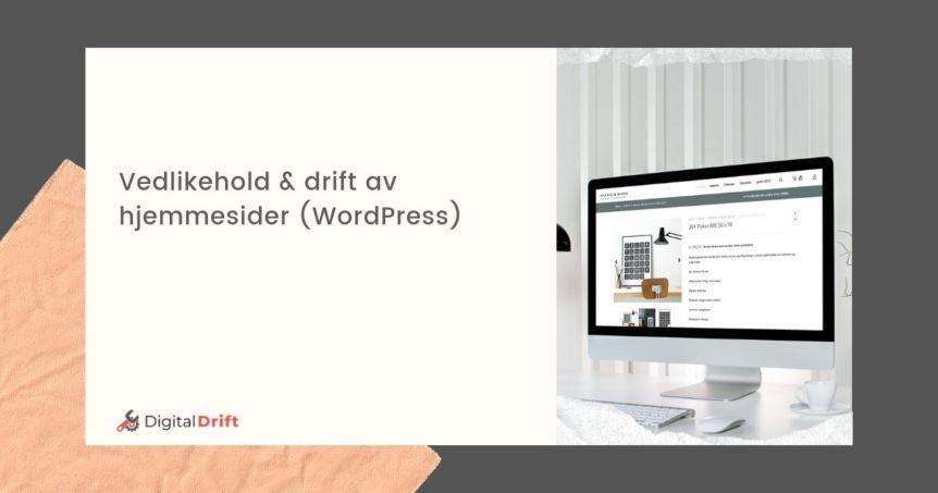 Driftsavtaler til små bedrifter - Wordpress